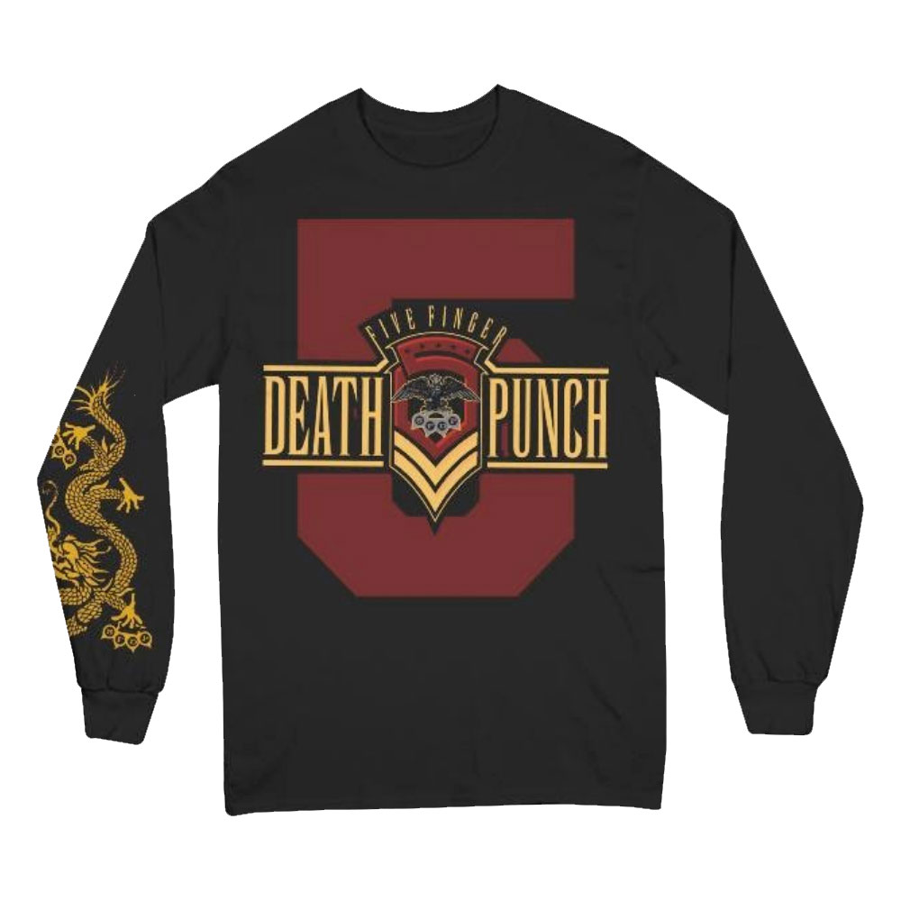 Five Finger Death Punch - Kung Fu Tattoo Long Sleeve Tee