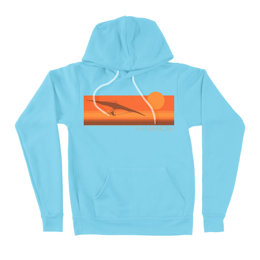Fu Manchu - Hang Glider Light Blue Hoodie