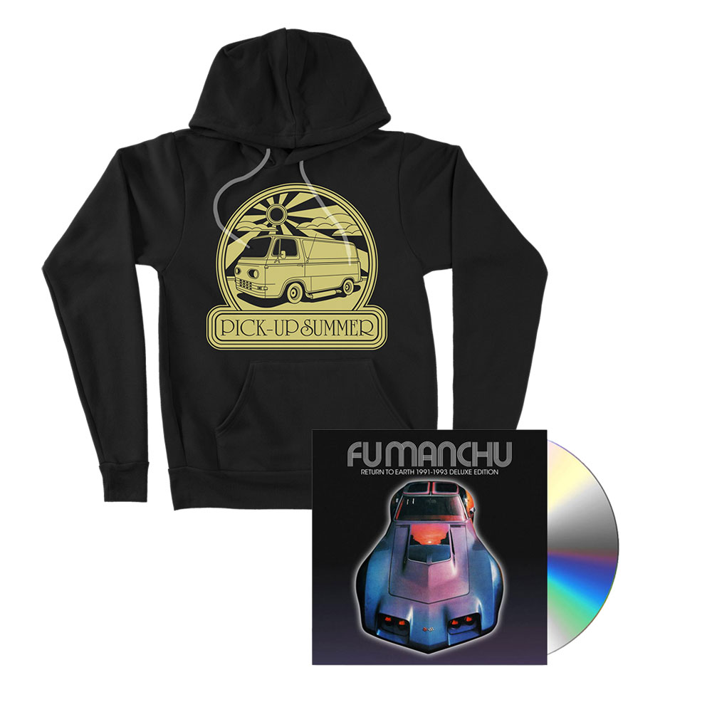 Fu Manchu - Pick-Up Summer Black Hoodie + Return To Earth Deluxe CD Bundle