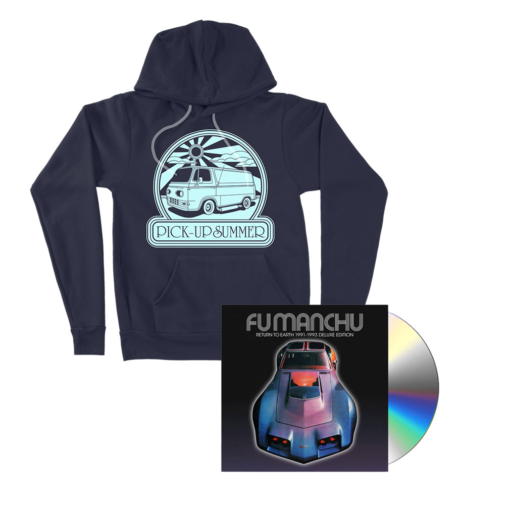 Fu Manchu - Pick-Up Summer Navy Hoodie + Return To Earth Deluxe CD Bundle