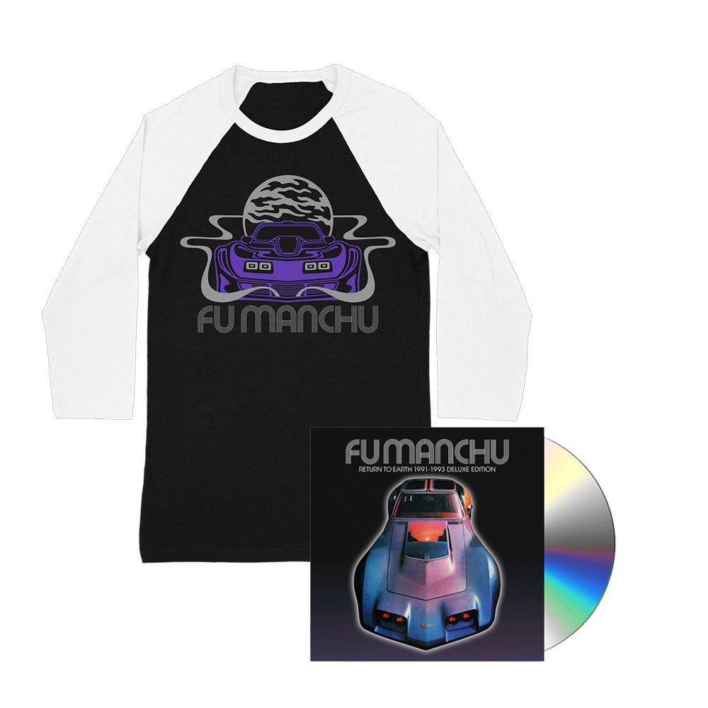 Fu Manchu - Vette Raglan + Return To Earth Deluxe CD Bundle