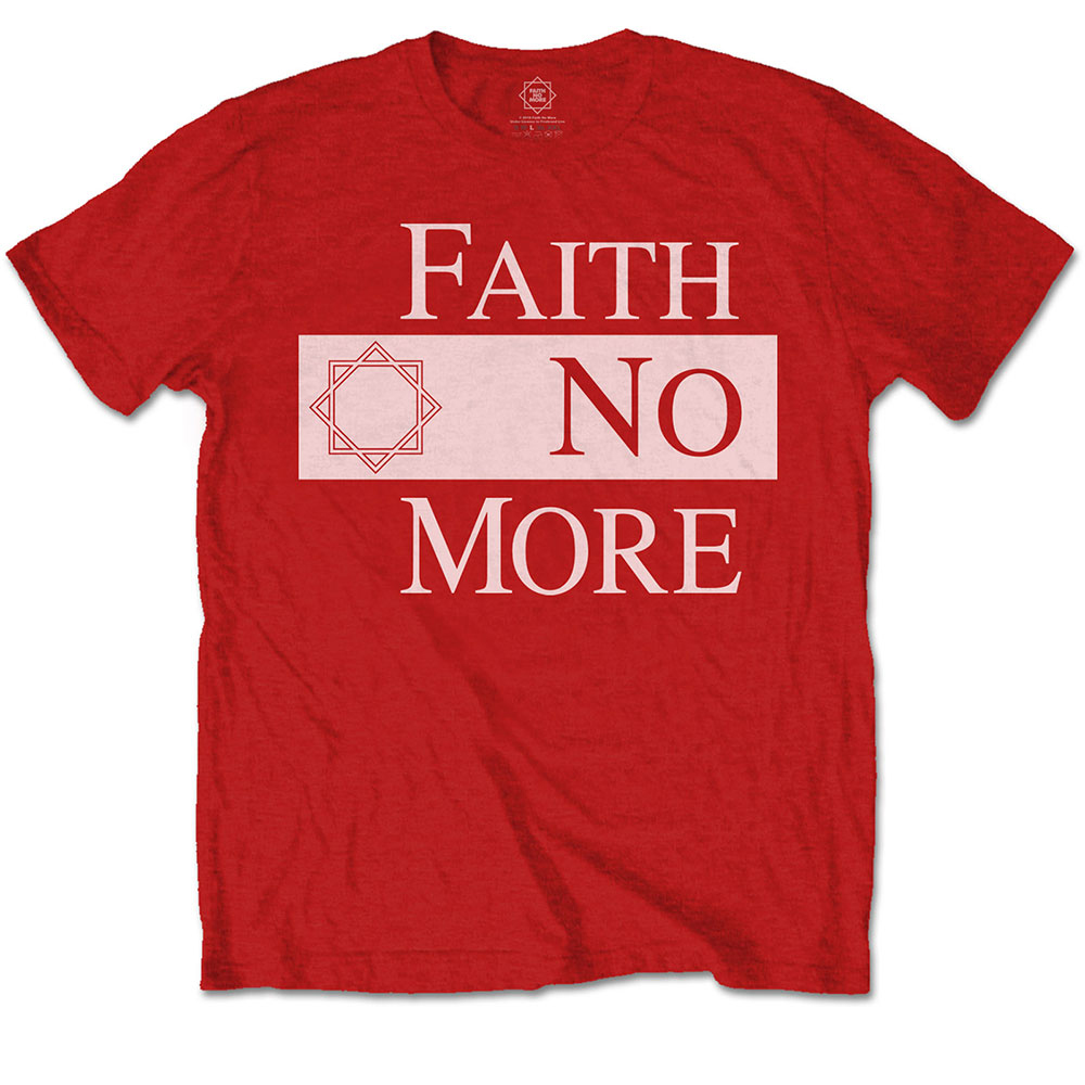 Faith No More - Classic New Logo Star (Red)