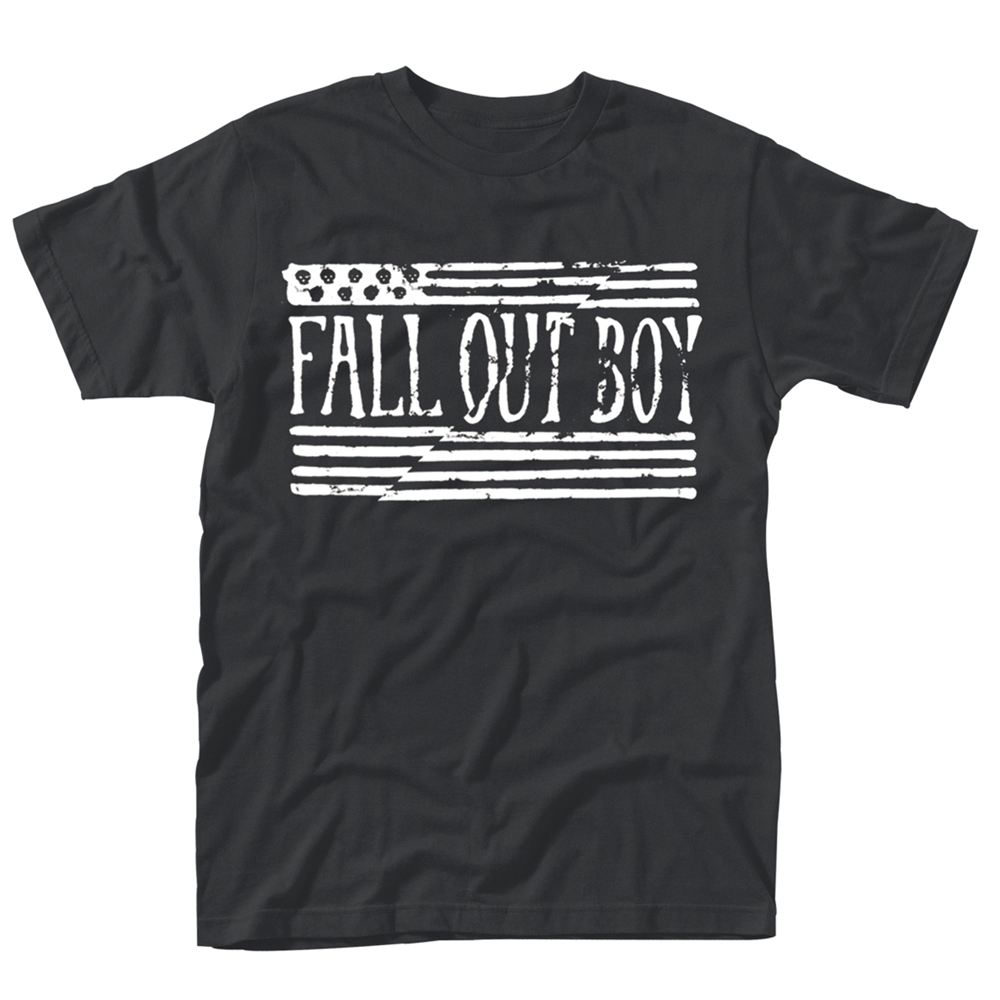 Fall Out Boy - US Flag (Black)