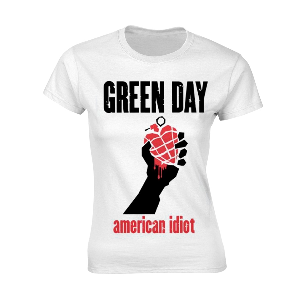 Green Day - American Idiot Heart - White