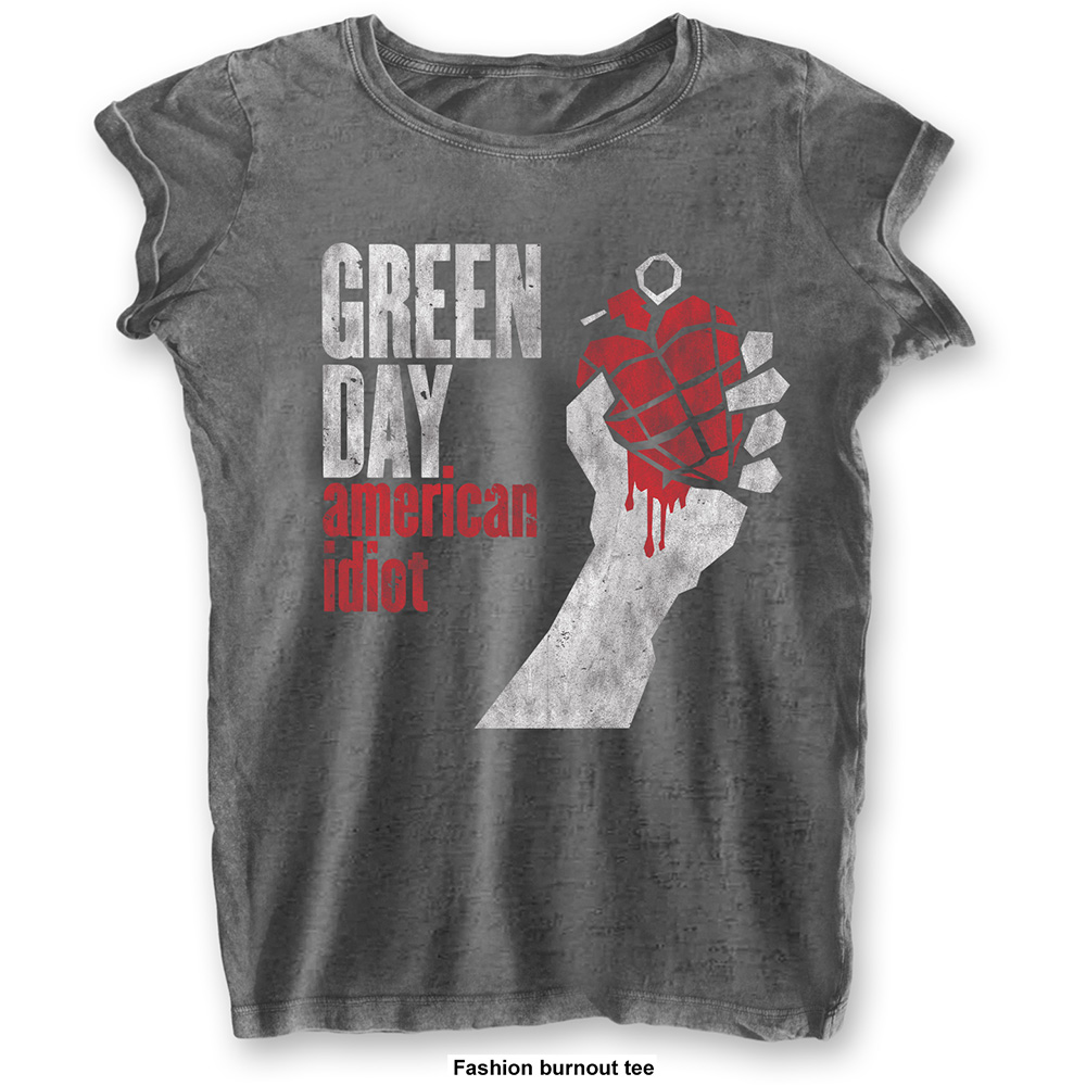 Green Day - American Idiot Vintage Burnout (Women's)