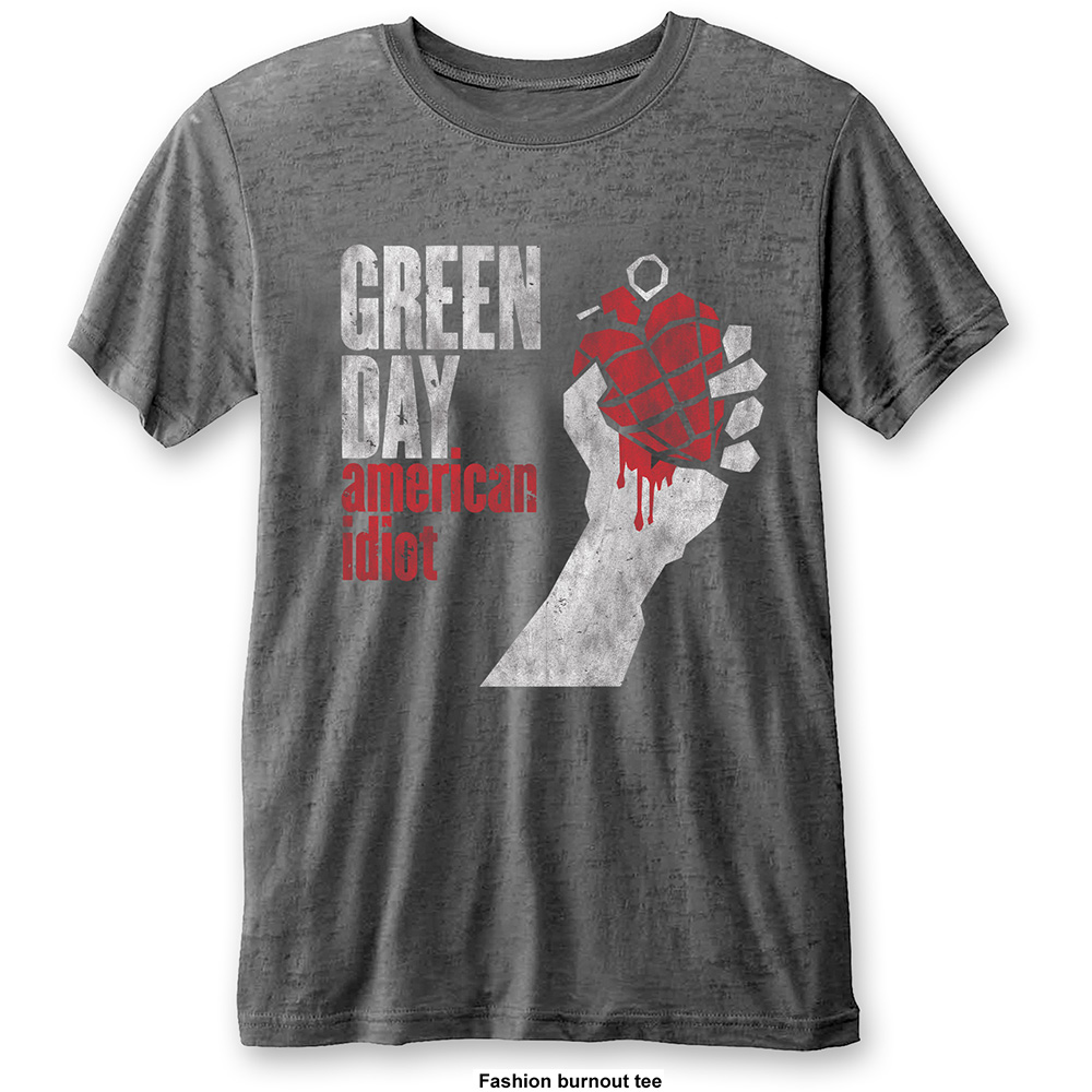 Green Day - American Idiot Vintage Mens Burnout