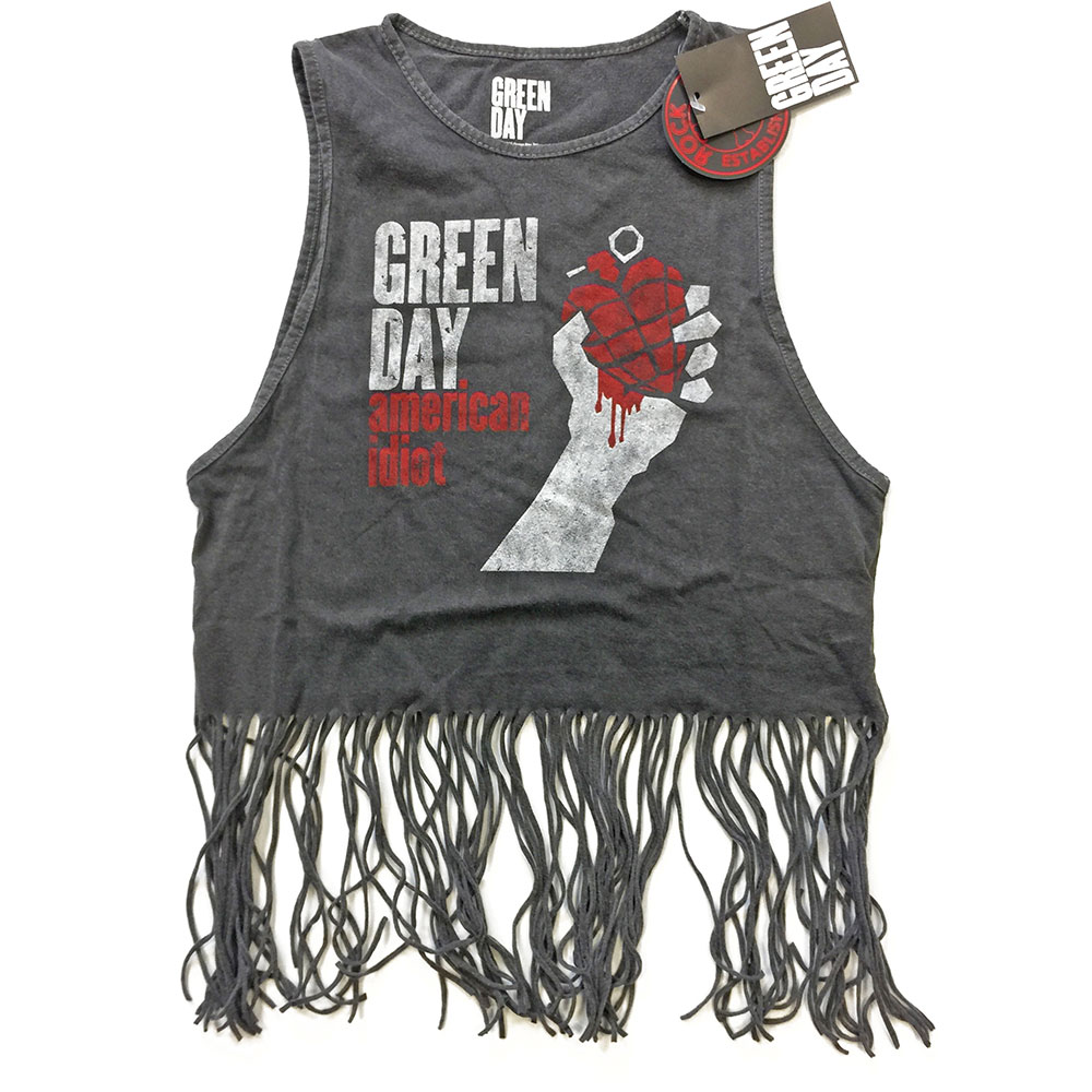 Green Day - American Idiot Vintage Babydoll Vest