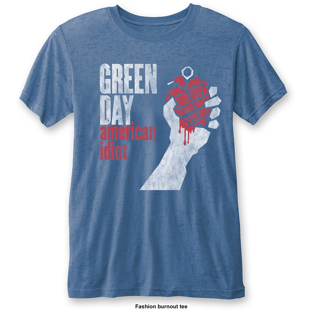 Green Day - American Idiot Vintage Burnout (Blue)