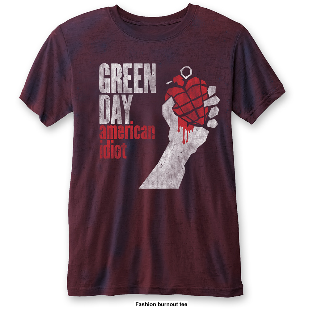 Green Day - American Idiot Vintage Burnout (Navy/Red)