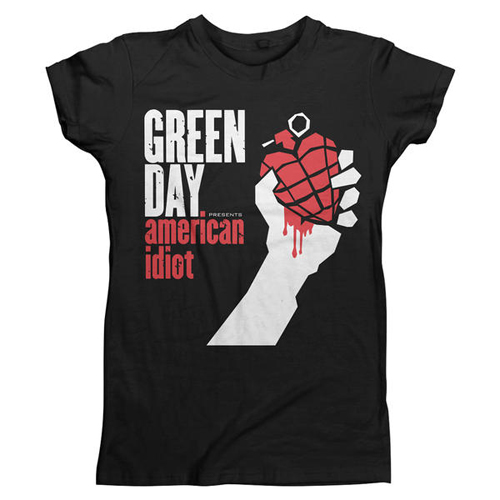 Green Day - American Idiot (A) (Slim Fit) (Ladies)