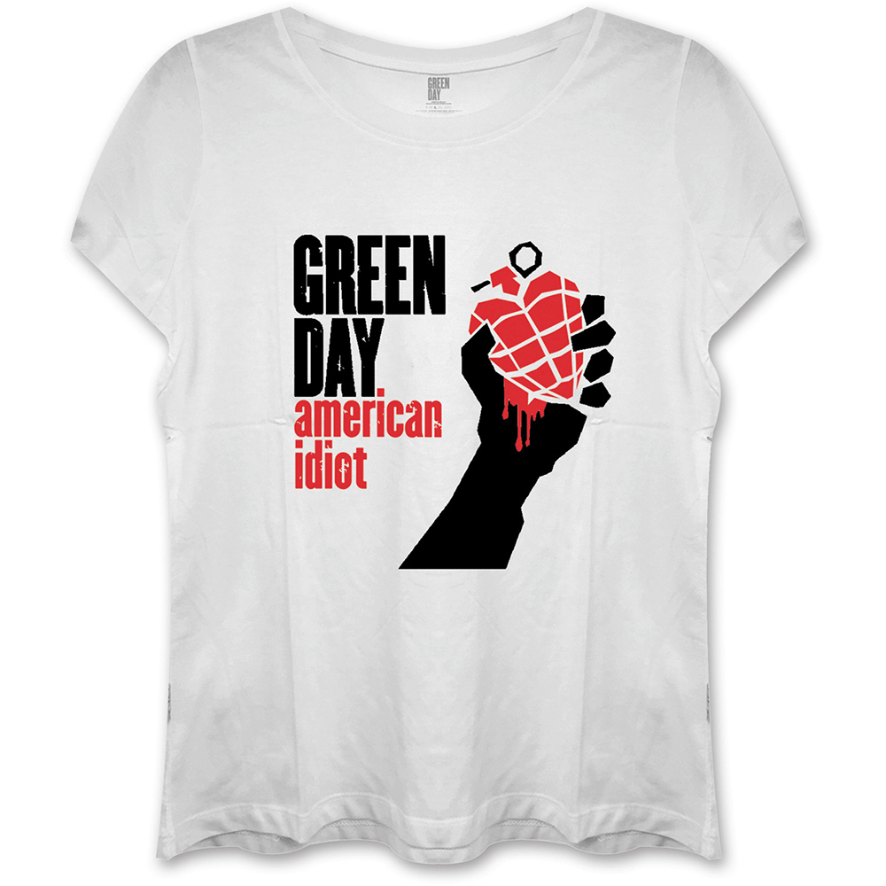 Green Day - American Idiot (White Skinny Fit)