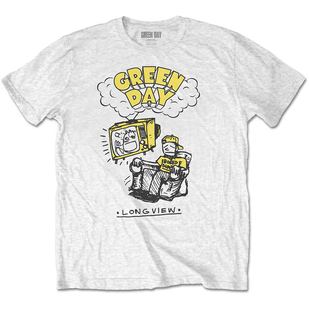 Green Day - Longview Doodle (White)