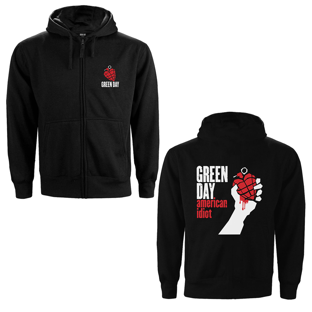 Green Day - American Idiot (Back Print) (Zip Hoodie)