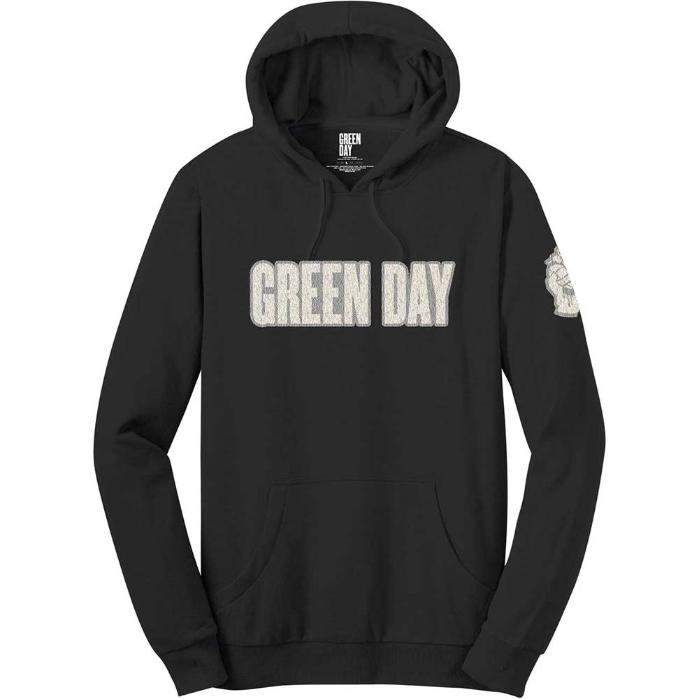 Green Day - Logo & Grenade (Applique Motifs) (Hoodie)