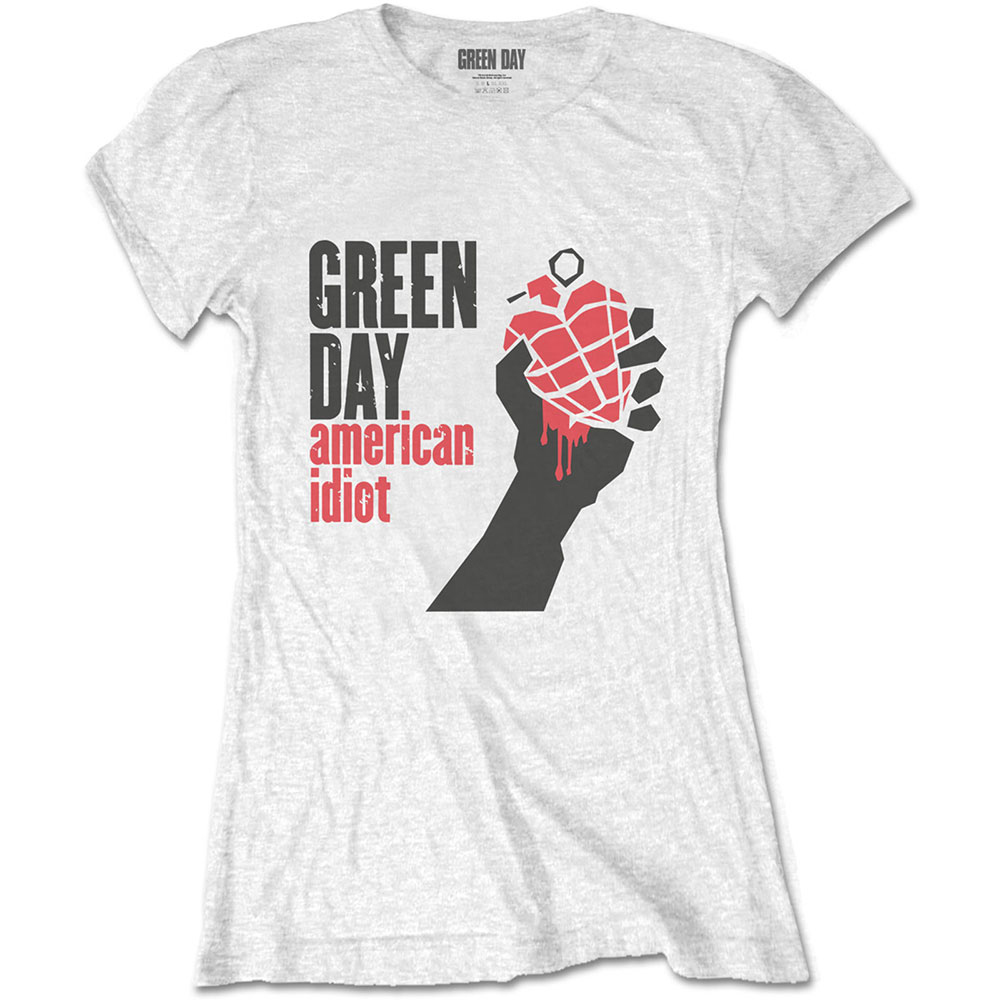 Green Day - American Idiot (White) (Ladies)