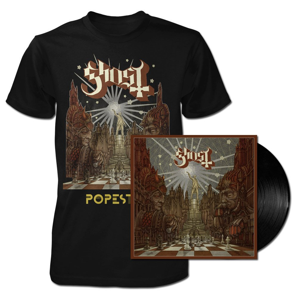 Ghost - Lightbringer Popestar Bundle (T-Shirt & Vinyl)