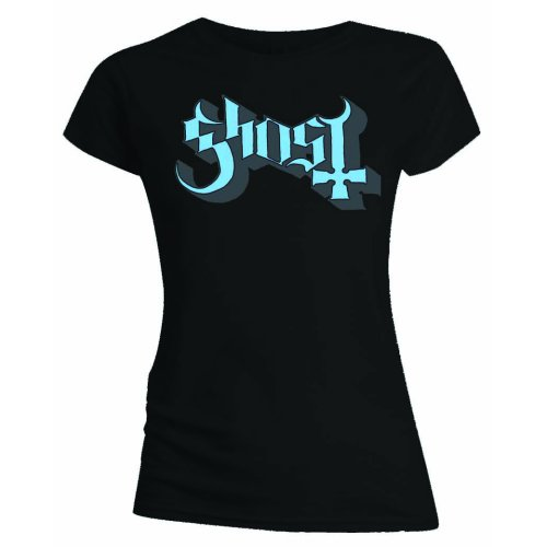 Ghost - Blue Keyline Logo (Black) (Women's)