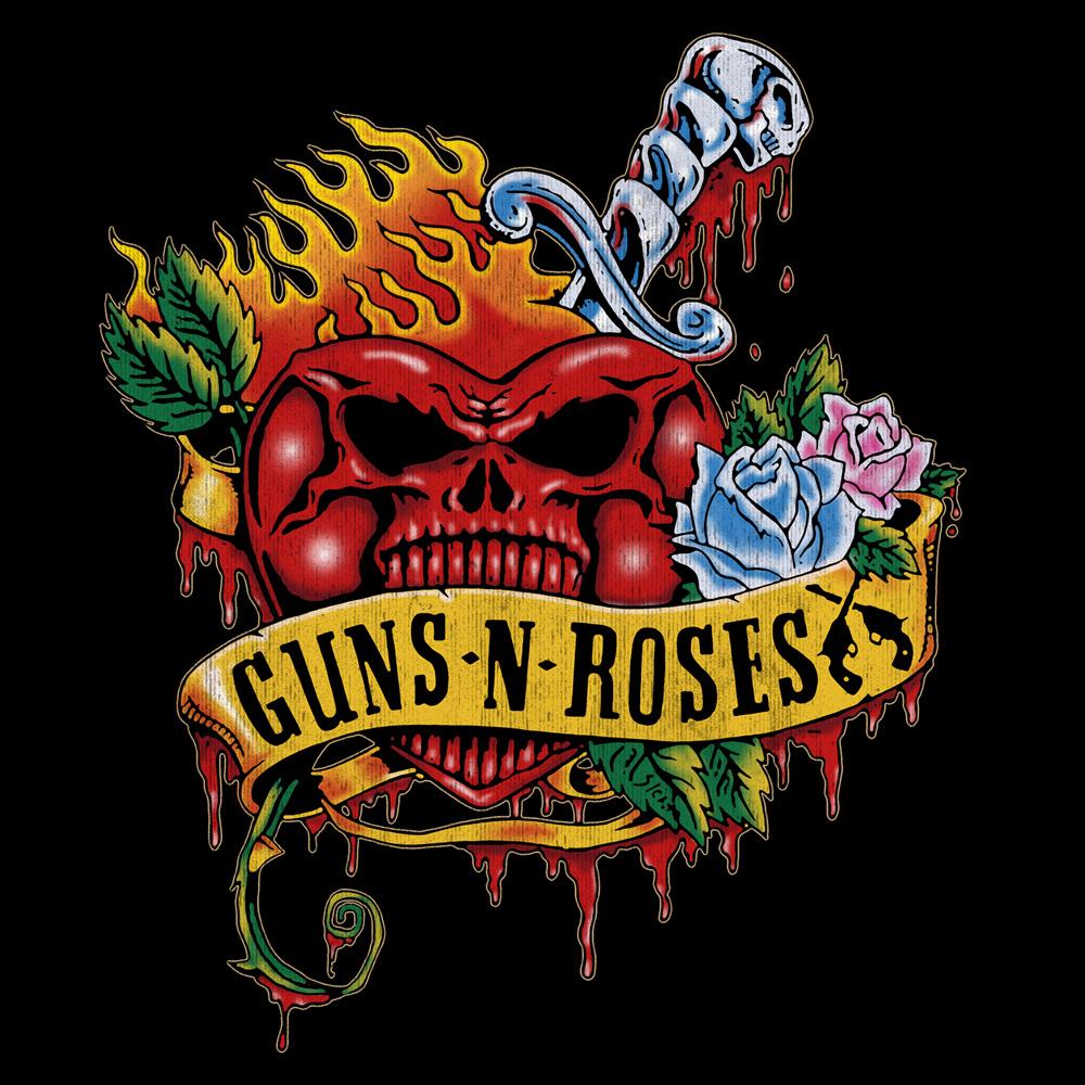 Backstreetmerch | Skull Heart (Black) | Guns N Roses