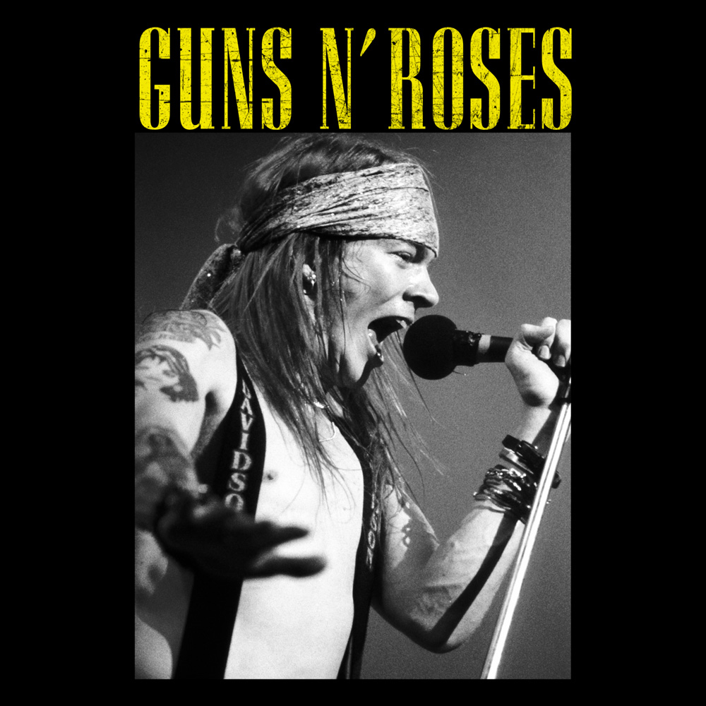 Guns N Roses - Axl Live Profile (Black)
