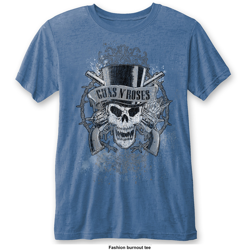 Guns N Roses - Faded Skull Burnout (Blue)