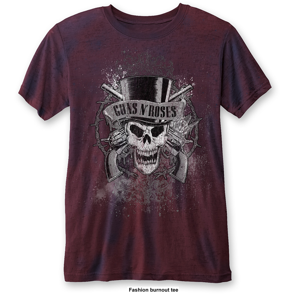 Guns N Roses - Faded Skull Burnout (Red)