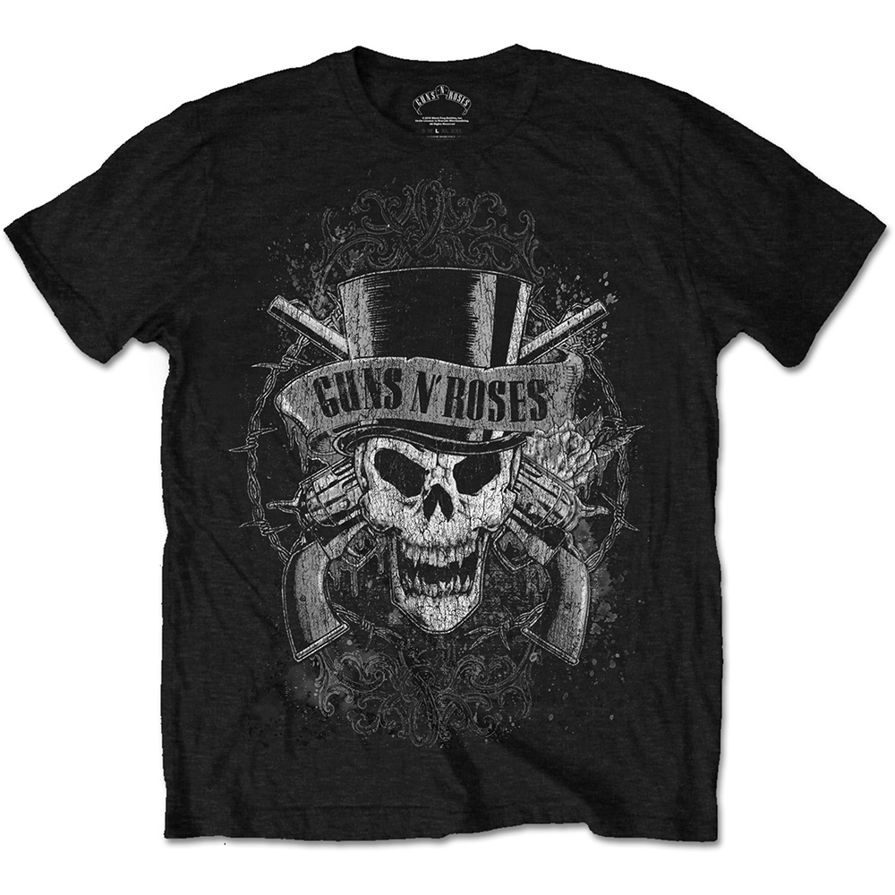 Guns N Roses - Faded Skull (Black)