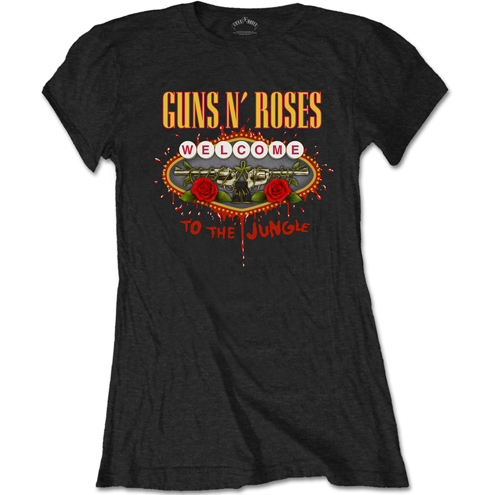 Guns N Roses - Welcome To The Jungle (Women's) (Black)