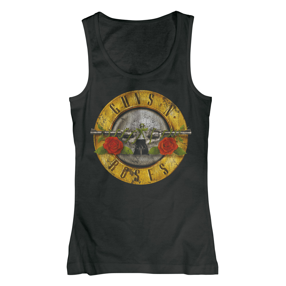 Guns N Roses - Distressed Bullet (Women's) (Black)