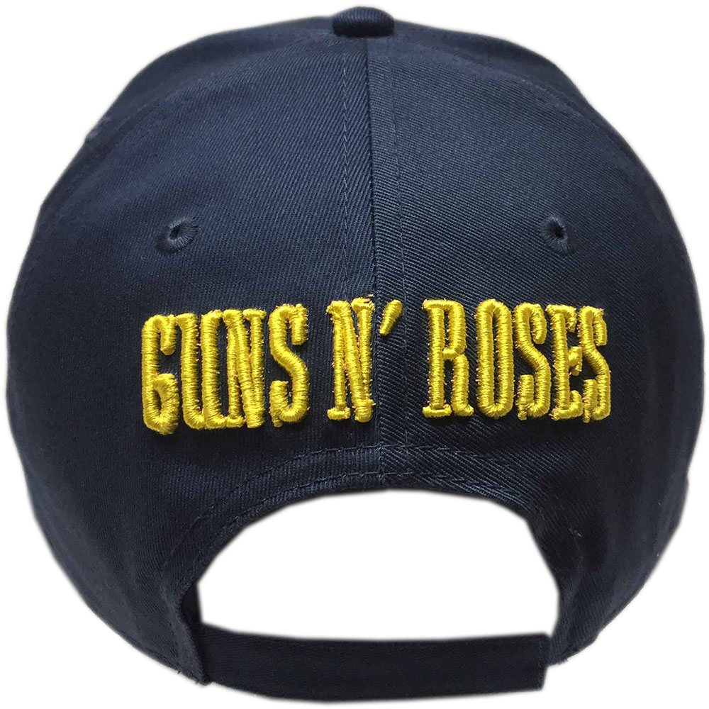 Guns N Roses - Circle Logo (Navy Blue) (Baseball Cap)