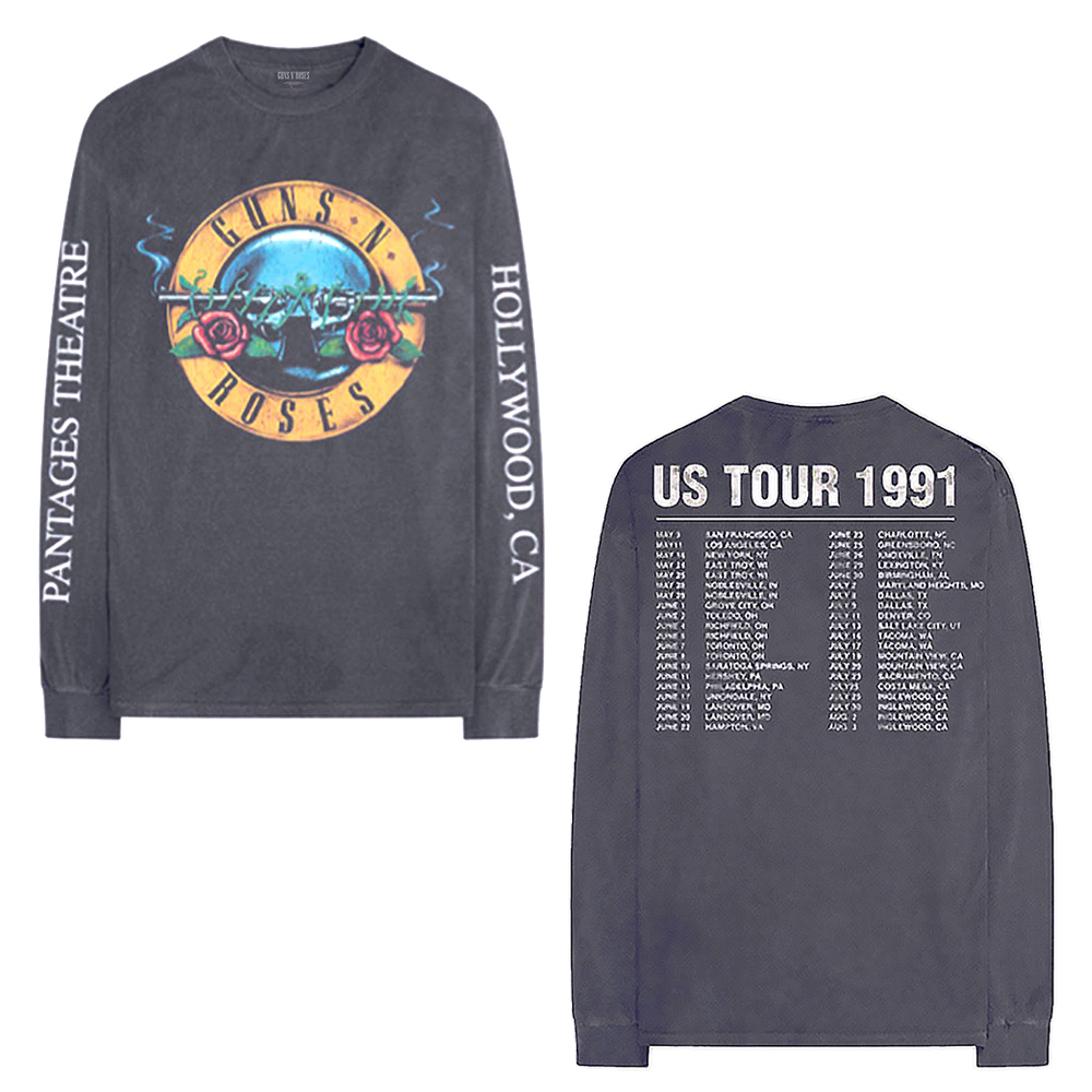 Guns N Roses - Hollywood Tour (Back & Arm Print) (Longsleeve)