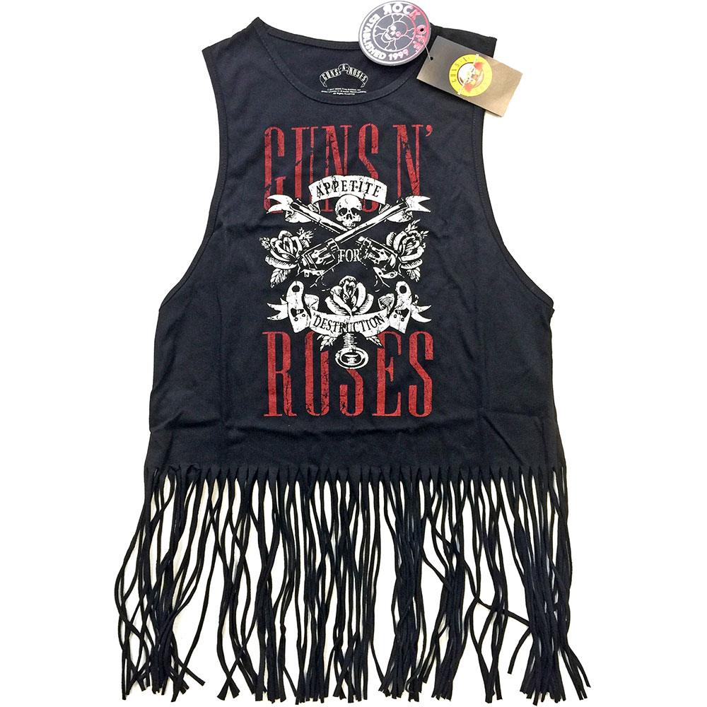 Guns N Roses - Appetite For Destruction Tassel Vest (Black)