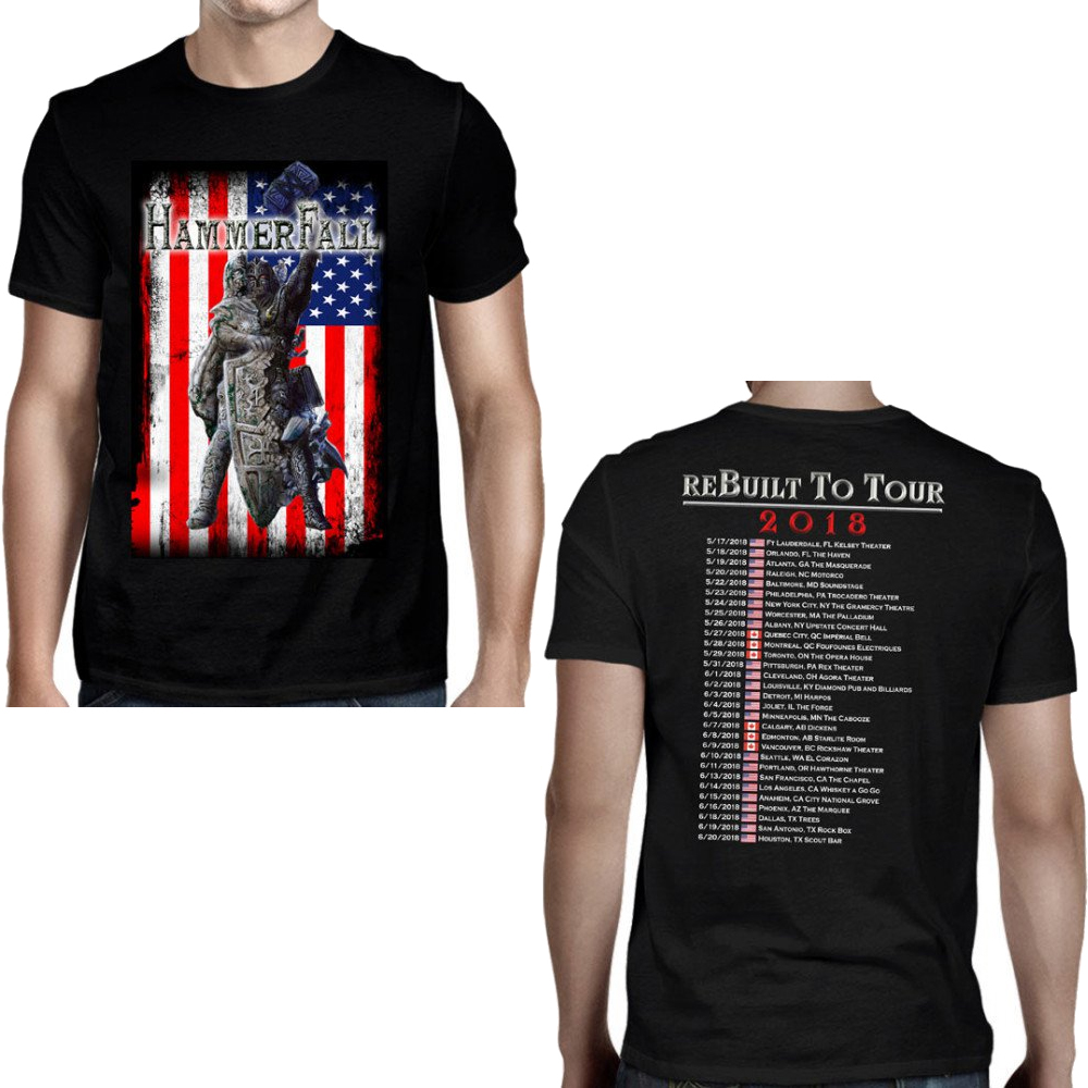Hammerfall - Rebuilt To Tour USA (Black)