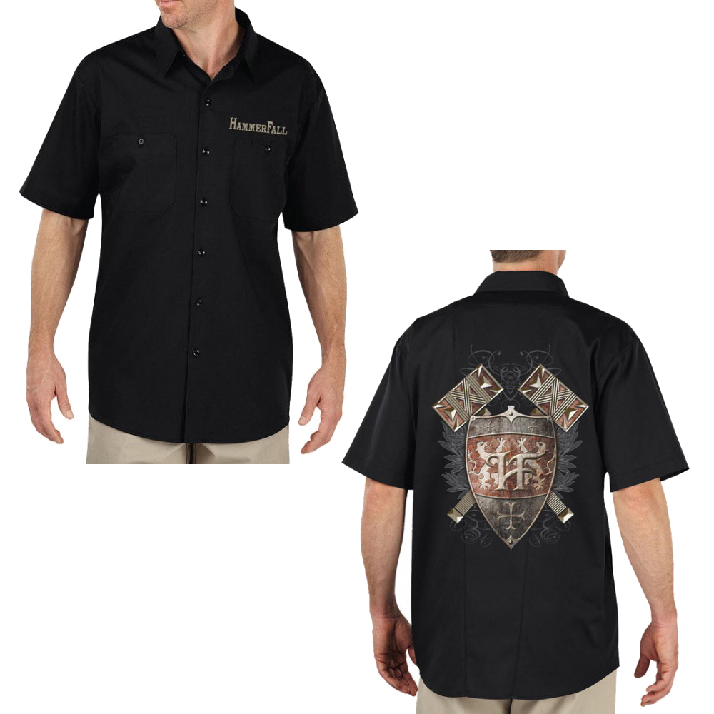 Hammerfall - Hammer Shield (Black Work Shirt)