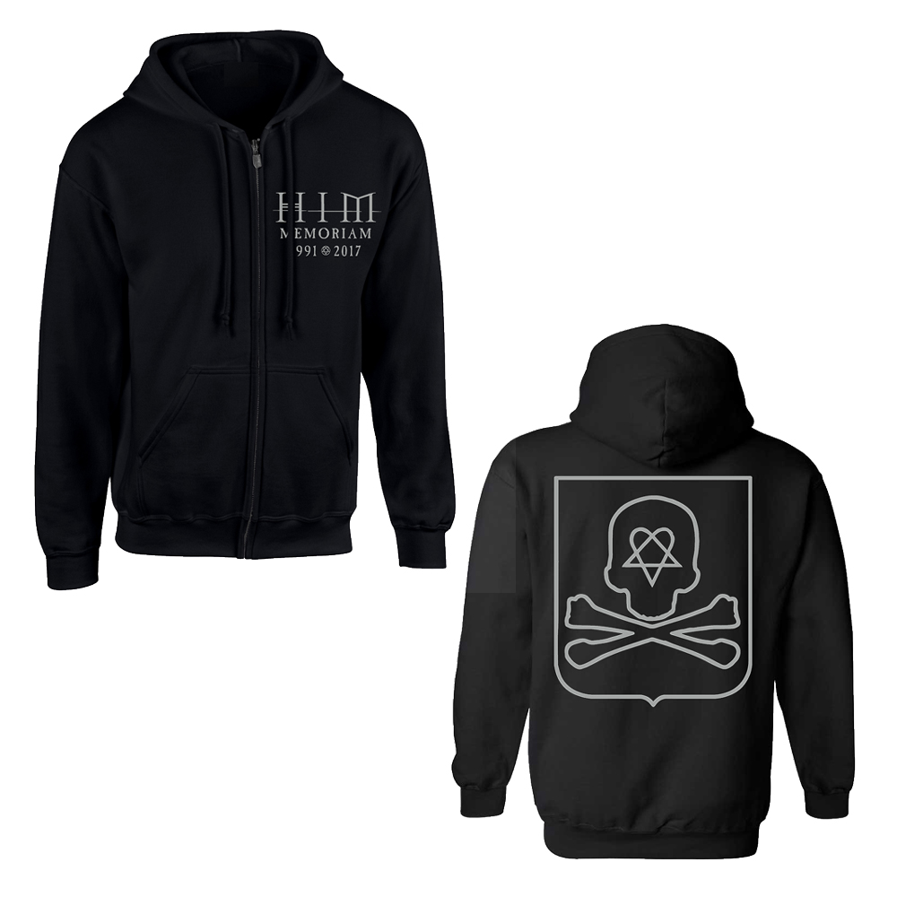 HIM - Coat Of Arms (Zip Hoodie)