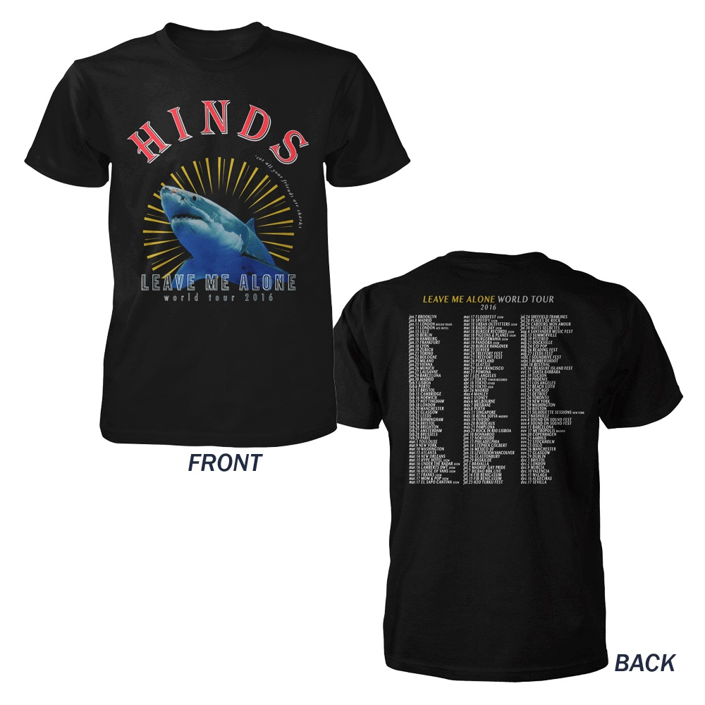 HINDS - Shark Tour Black T-Shirt