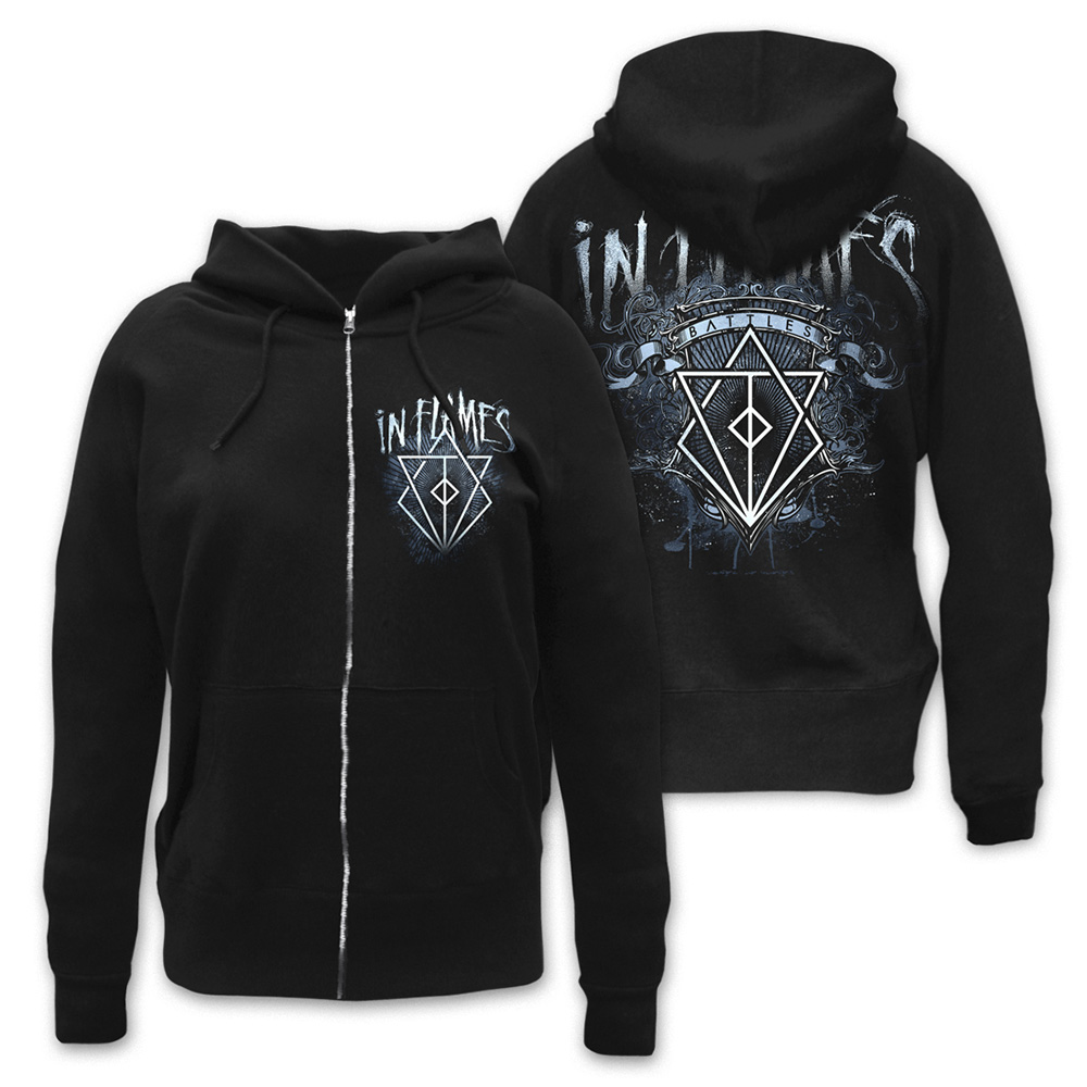 In Flames - Battle Crest (Black)