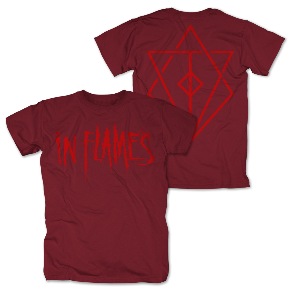 In Flames - Logo (Red)
