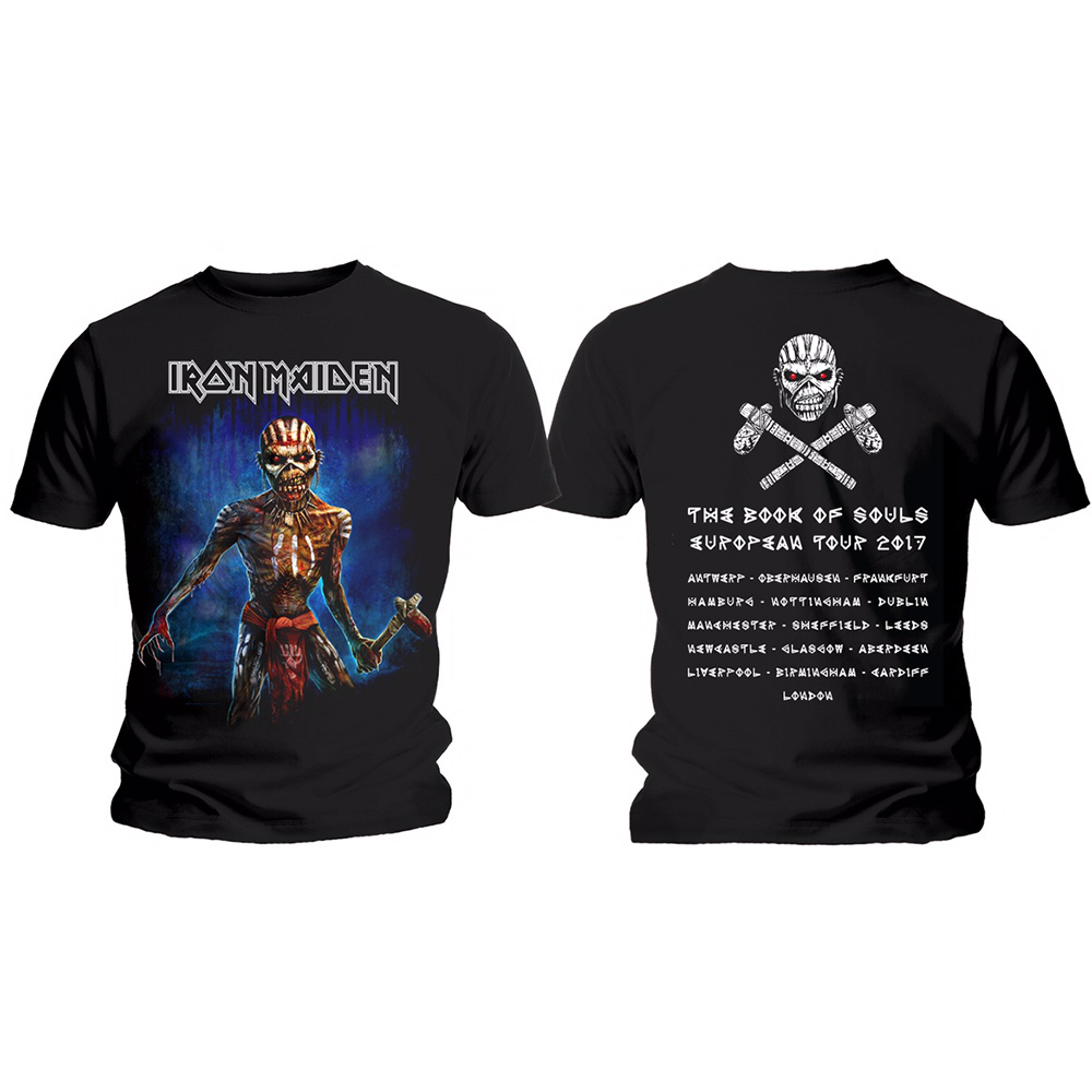 Iron Maiden - Book Of Souls European Tour (Black)