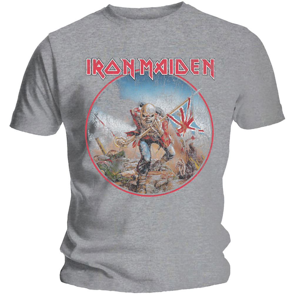 Iron Maiden - Trooper Vintage Circle (Grey)