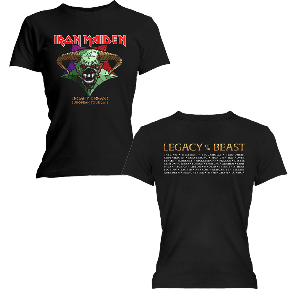 Iron Maiden - Legacy Of the Beast Tour (Back Print) (Ladies)