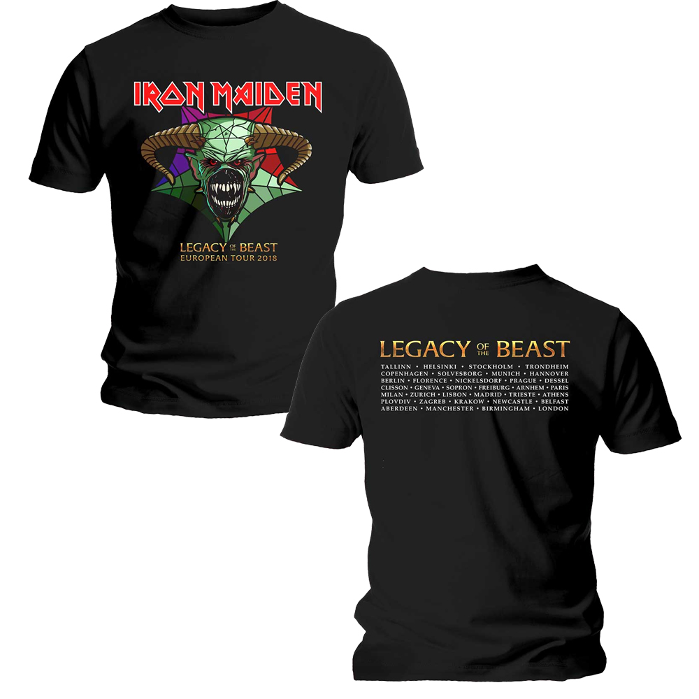 Iron Maiden - Legacy Of the Beast Tour (Back Print)