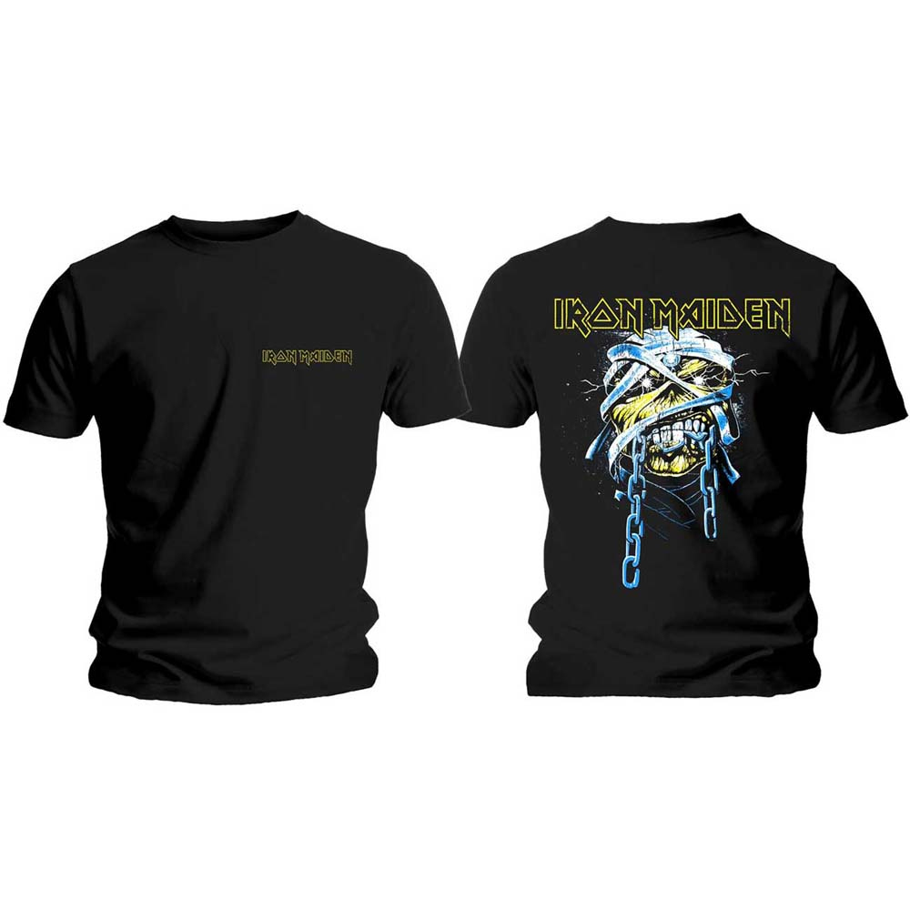 Iron Maiden - Powerslave Head & Logo (Back Print)