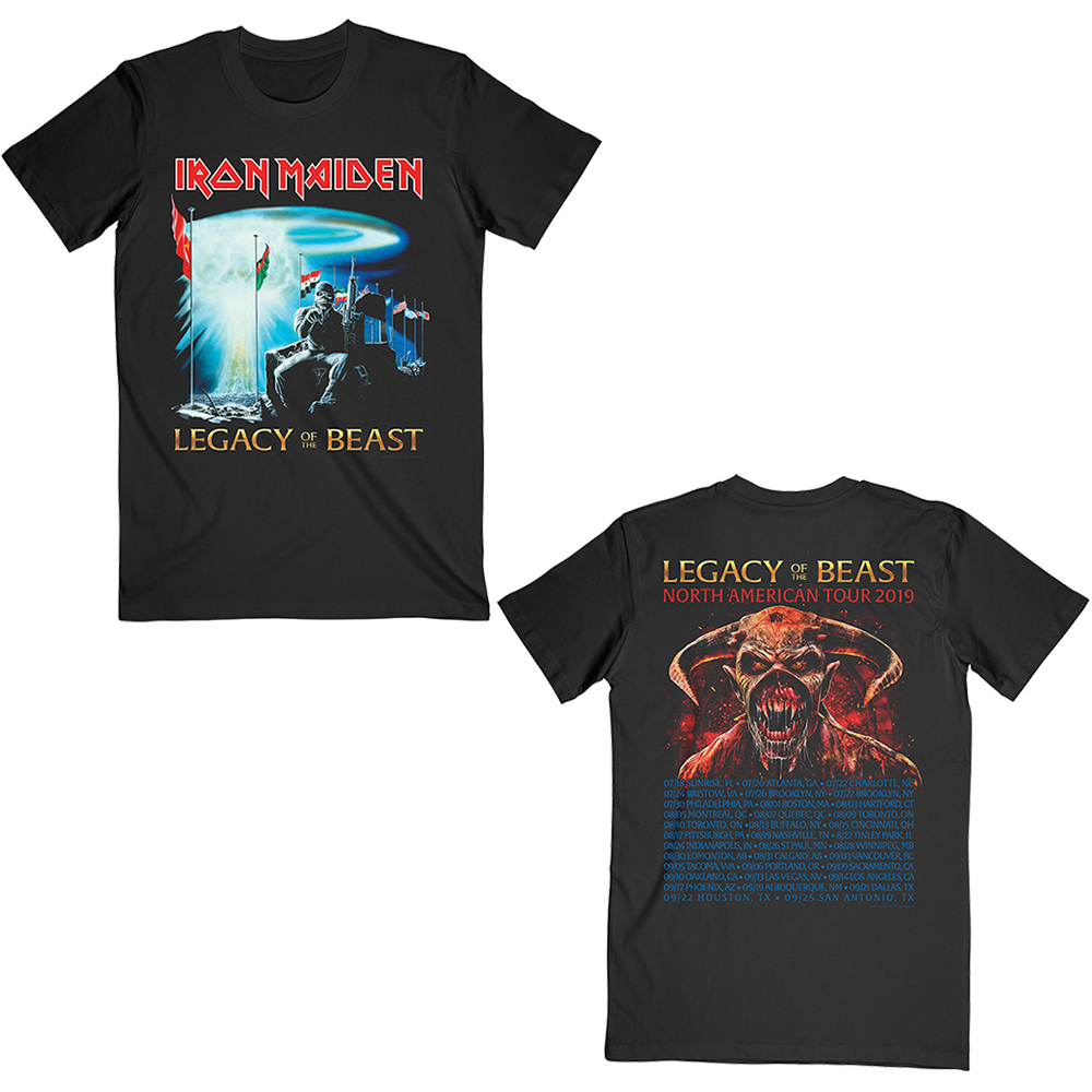 Iron Maiden - Two Minutes to Midnight (2019 USA Tour Backprint)