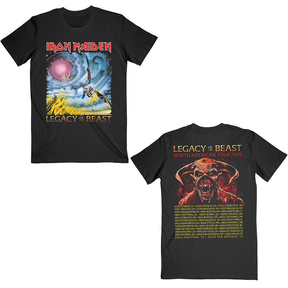 Iron Maiden - The Flight of Icarus (2019 USA Tour Backprint)