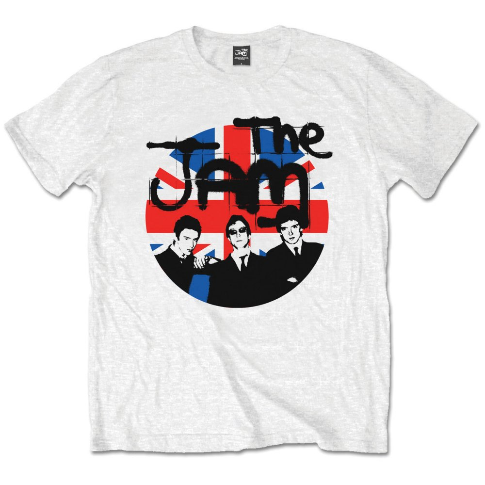 The Jam - Union Jack Circle (White)