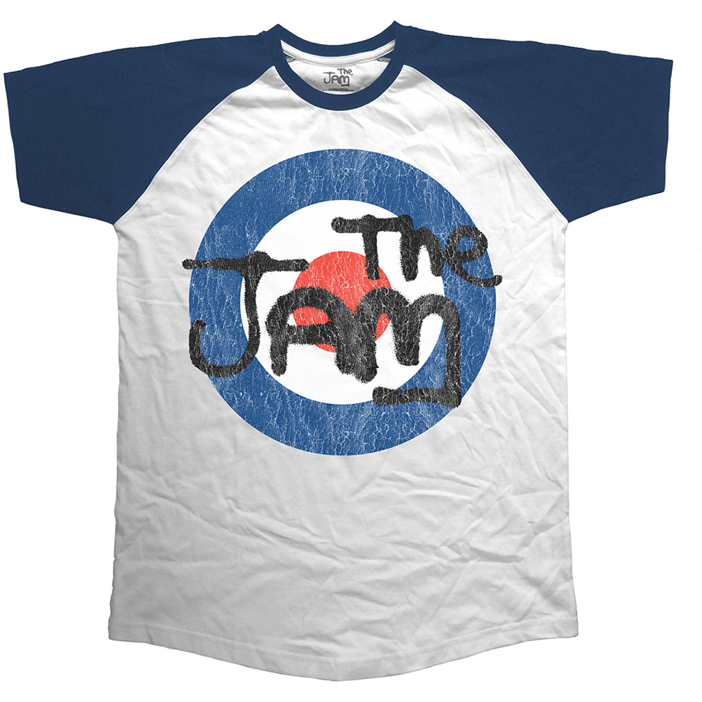 The Jam - Vintage Logo Short Sleeve Raglan Navy