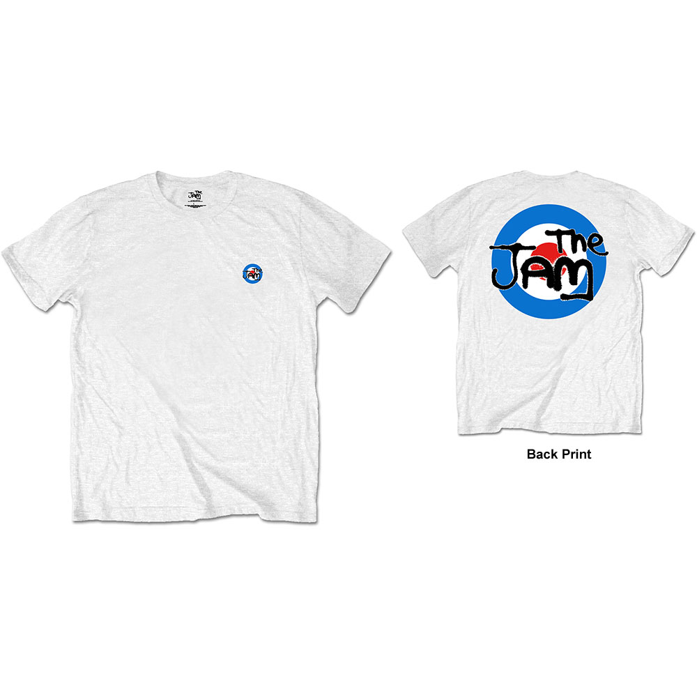 The Jam - Target Logo (Back Print) White