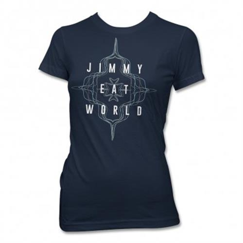 Jimmy Eat World - Flower Wave  (Navy Blue)