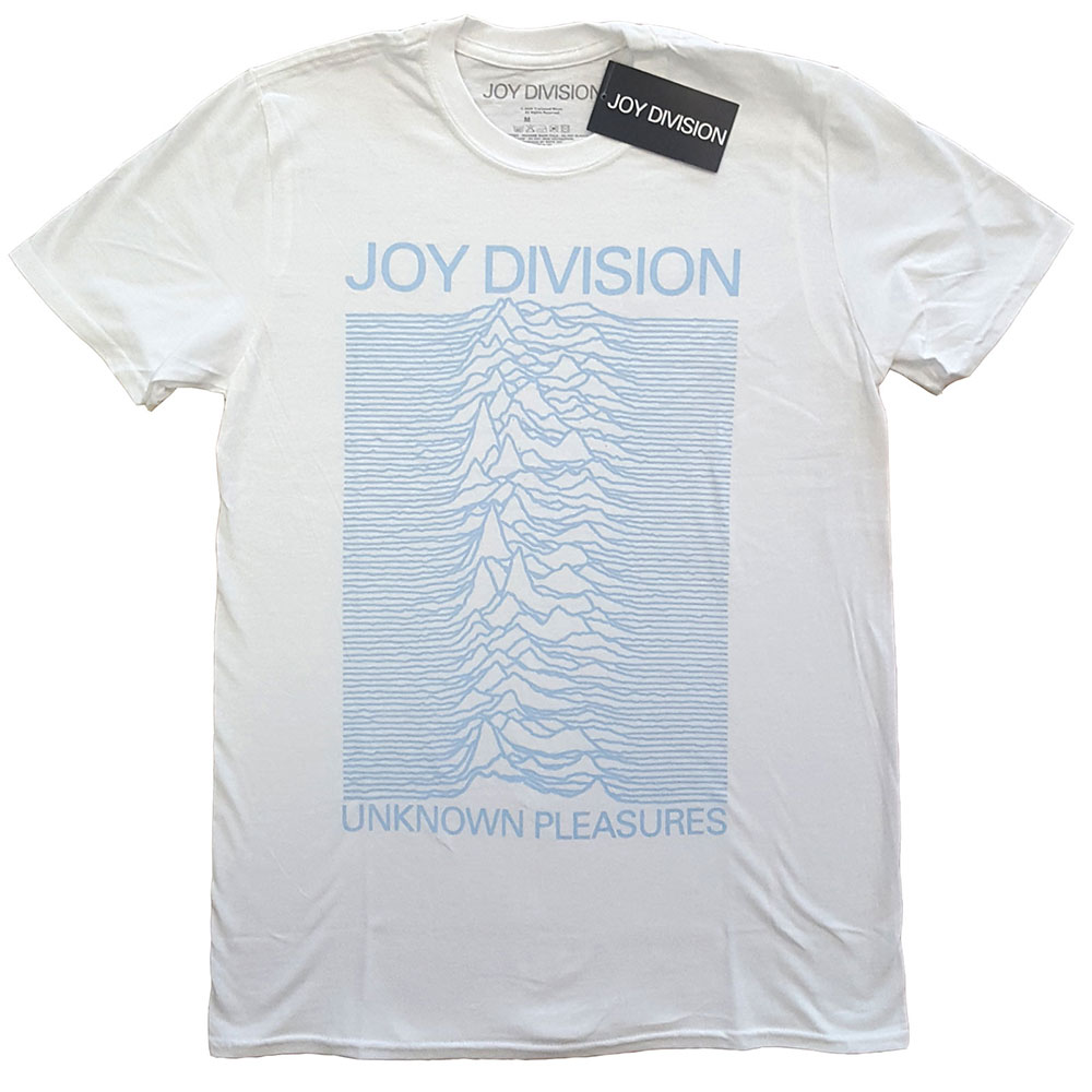 Joy Division - Unknown Pleasures Blue on White