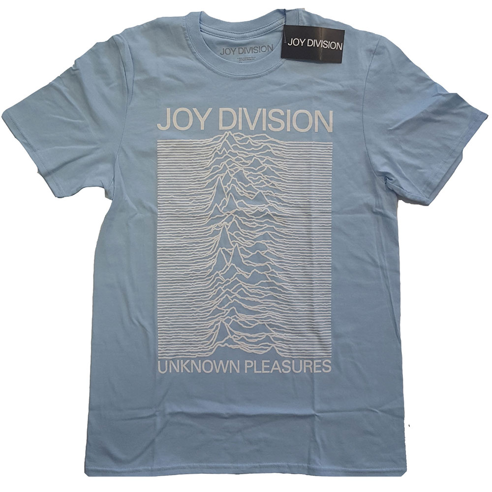 Joy Division - Unknown Pleasures White On Blue